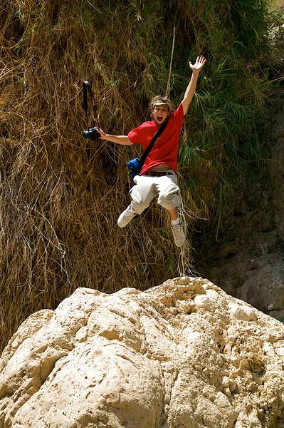 Mikes famous Jump shot.