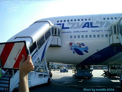 Plane arrives ontime.