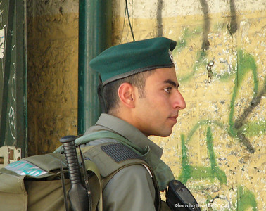 Soldier in Arab quarter