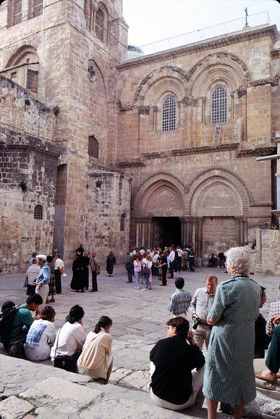 """On Good Friday I visited the Church of The Holy Sepulcher which was built over top of Golgotha to preserve and commemorate the spot where Jesus gave His life for """"the few"""" who will see heaven. <br /> <br /> This is the entrance to the church."""