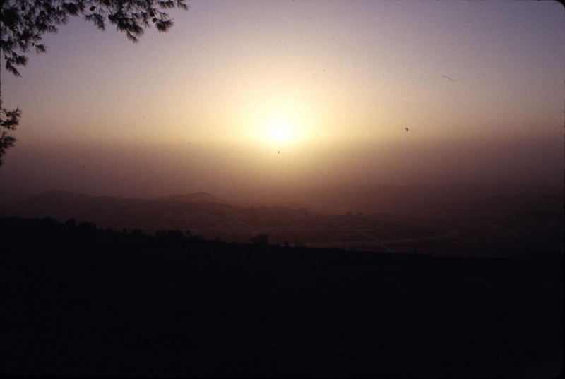 Then Easter Sunday morning, sitting on top of the Mount of Olives in total darkness, I waited to see the sun rise (symbolizing the Son rise).