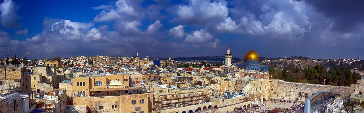 Jerusalem Old City Panorama.