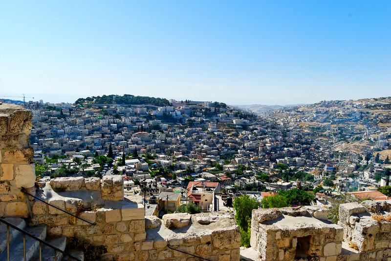 Monte de Sion visto da muralha