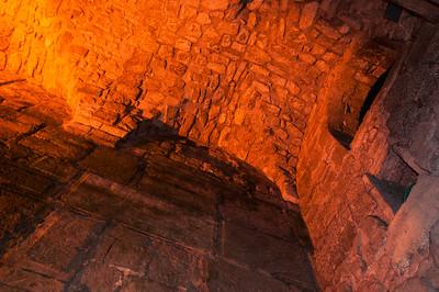 Below the western wall