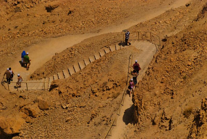 caminho pedestre entre Massada e a base