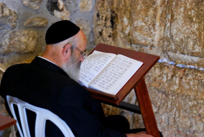 na sinagoga<br /> Muro das Lamentações