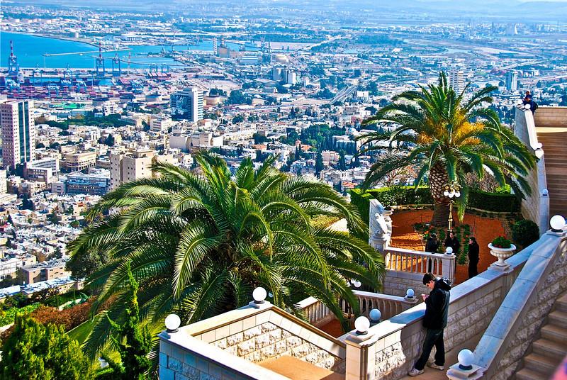 The View of Haifa from Mount Carmel (c) Daniel Yoffee