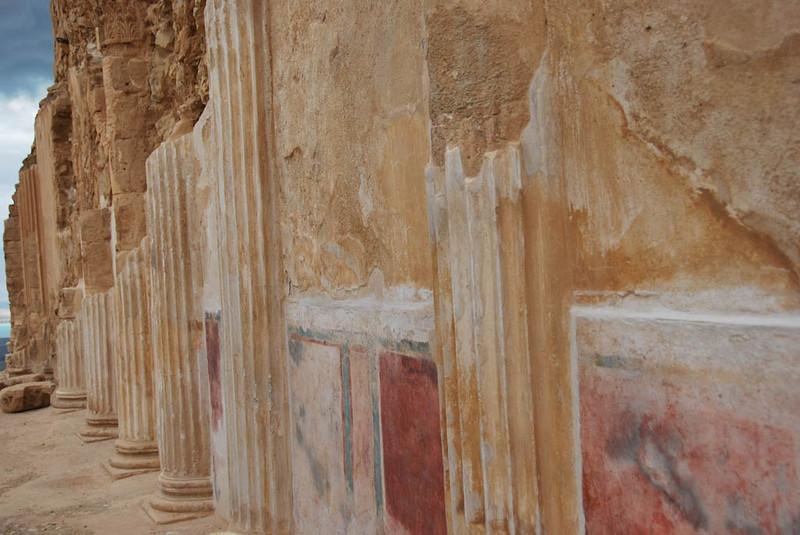 Column and Fresco Panels, Masada (c) Daniel Yoffee