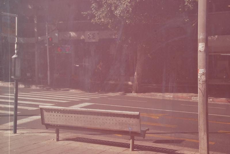 Bench Reflection - Tel Aviv, Israel (c) Daniel Yoffee