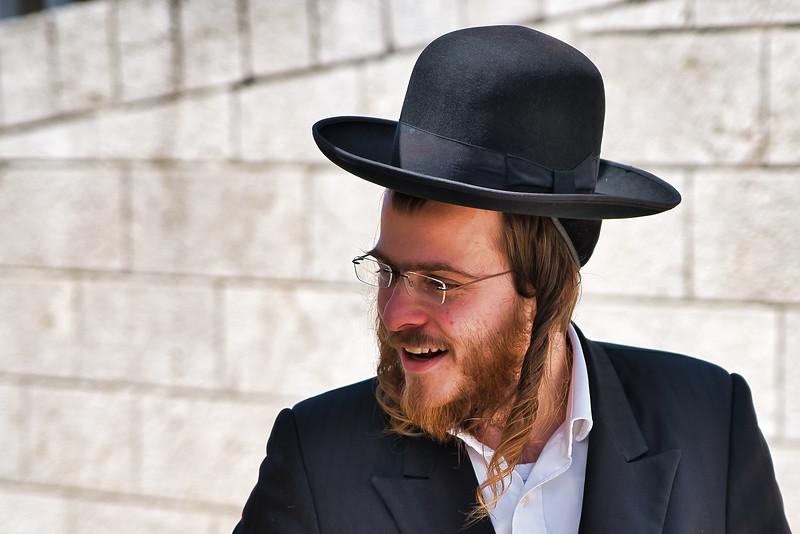 Young Hasidic Man in Jerusalem