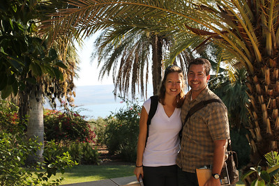 Mount of Beatitudes - you can see the Sea of Galilee in the background