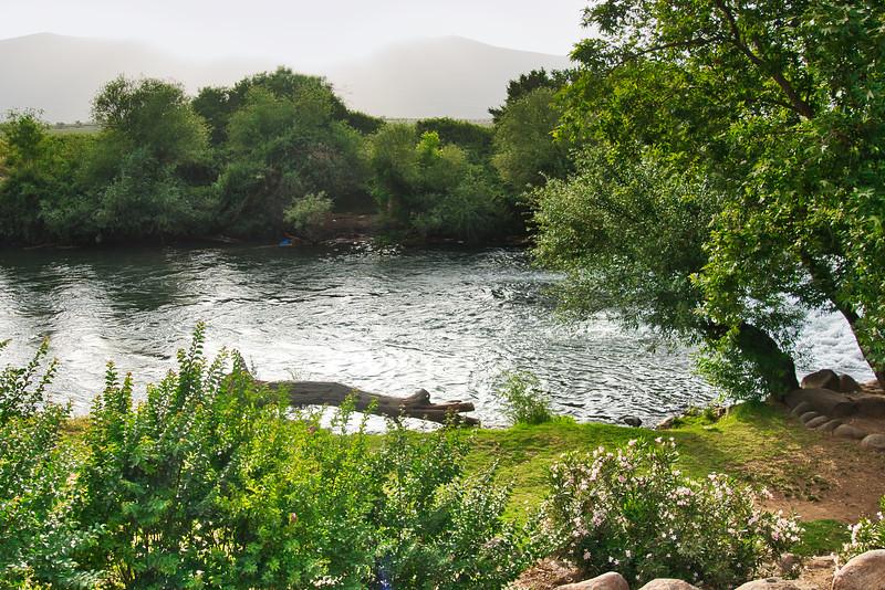 Jordan River in Jezreel Valley
