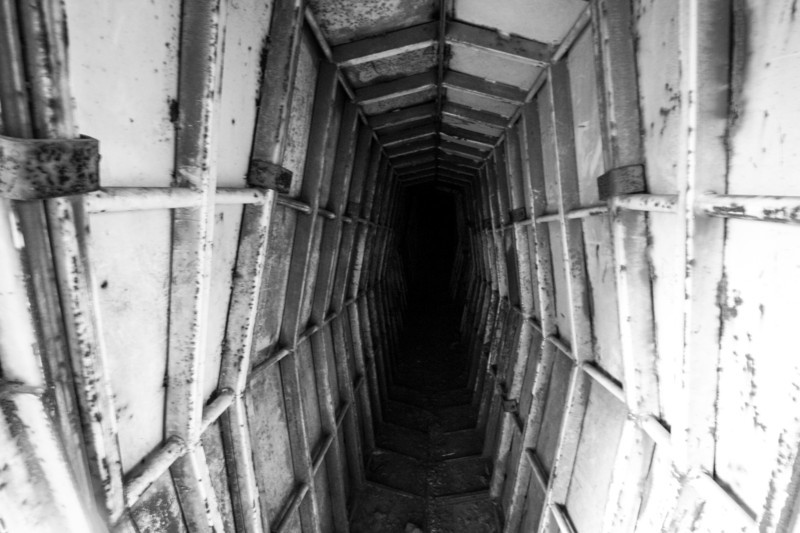Israeli tunnel in Golan Heights.  Location of the Battle of Valley of Tears. 7th Syrian Infantry Division attacked the Israeli 7th Armored Brigade and was repeatedly repulsed.  60 Israeli tanks lost to 500 Syrian tanks lost.
