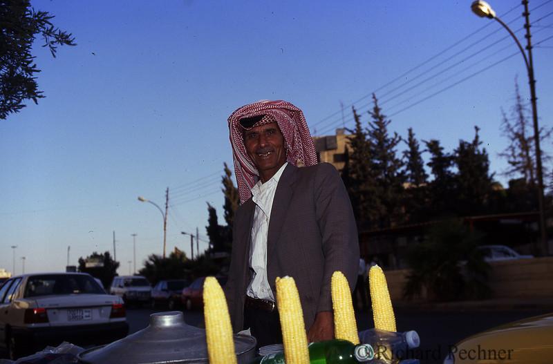 Roadside corn seller, just outside Amman, Jordan