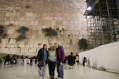 The Wailing Wall - Melanie with some of our travel companions.