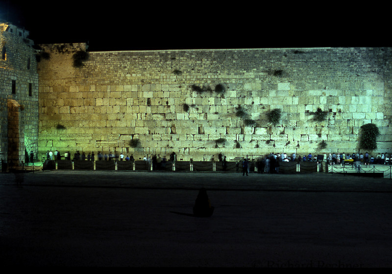 Late night at the Kotel.