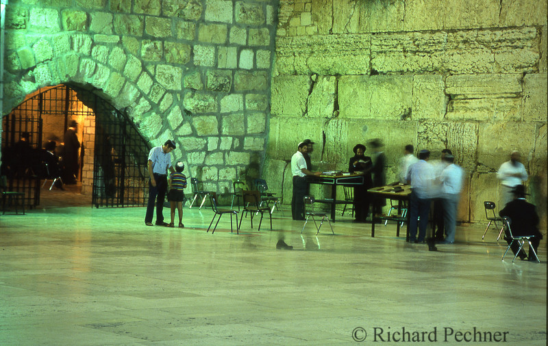 """The """"cave"""" entrance at the Kotel."""