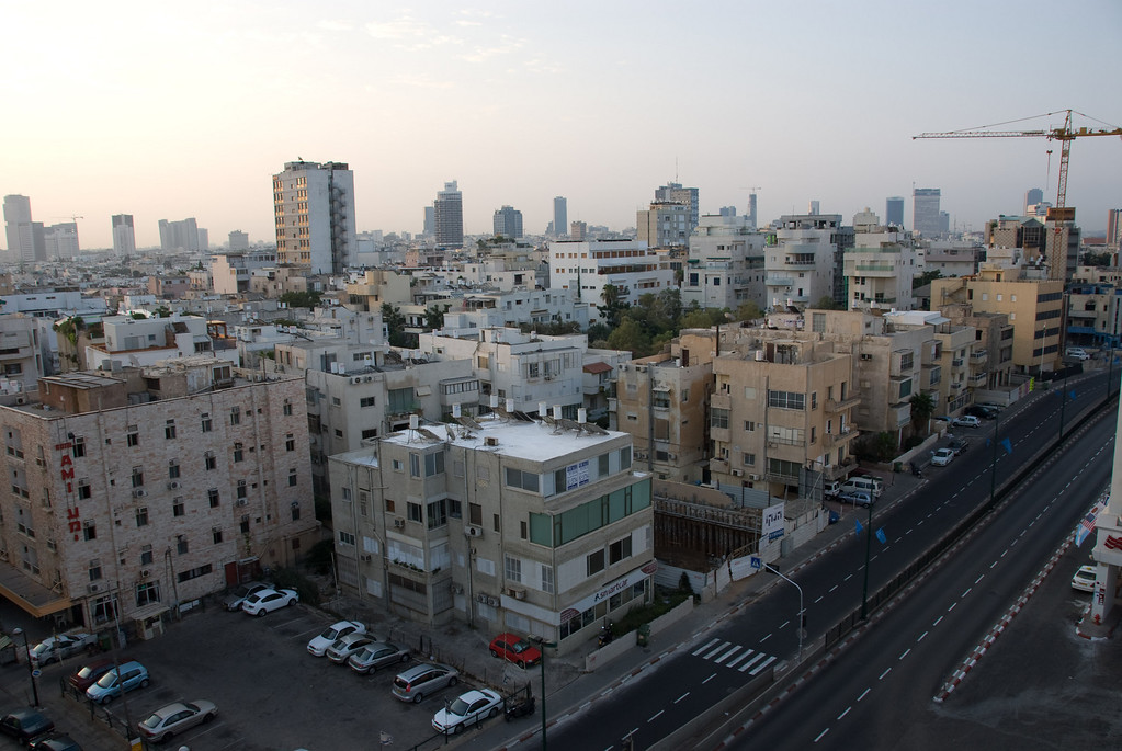 This is a view of Tel Aviv from our hotel
