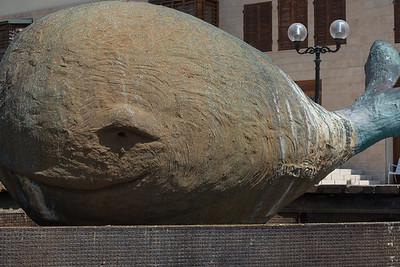 Whale fountain, Joppa