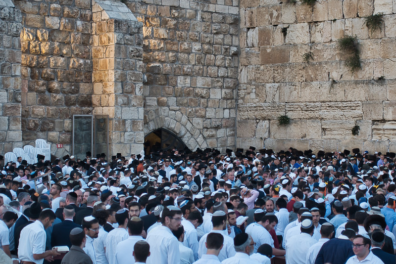 The Wailing Wall on Friday at Sunset