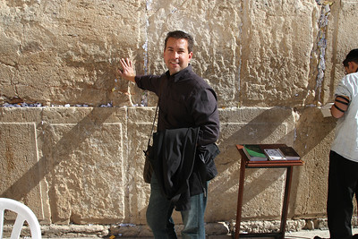 The Wailing Wall - People leave prayers/wishes written on little pieces of paper and stuffed in the cracks.