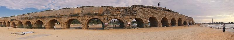 Roman Aqueduct in Ruins (front)