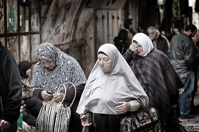 Aged  Muslim Quarter, Jerusalem, Israel.
