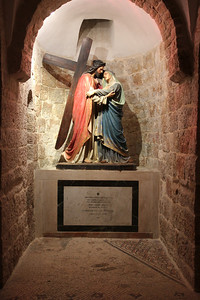 Stations of the Cross -  Number 4 where Jesus meets his mother Mary.