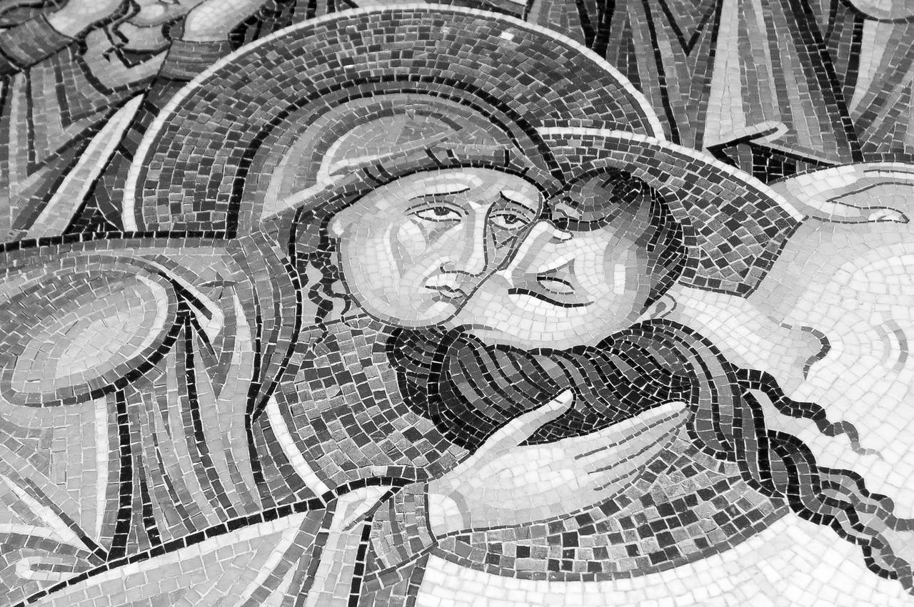 Mary & Jesus Mosaic, Holy Sepulchre Church, Jerusalem