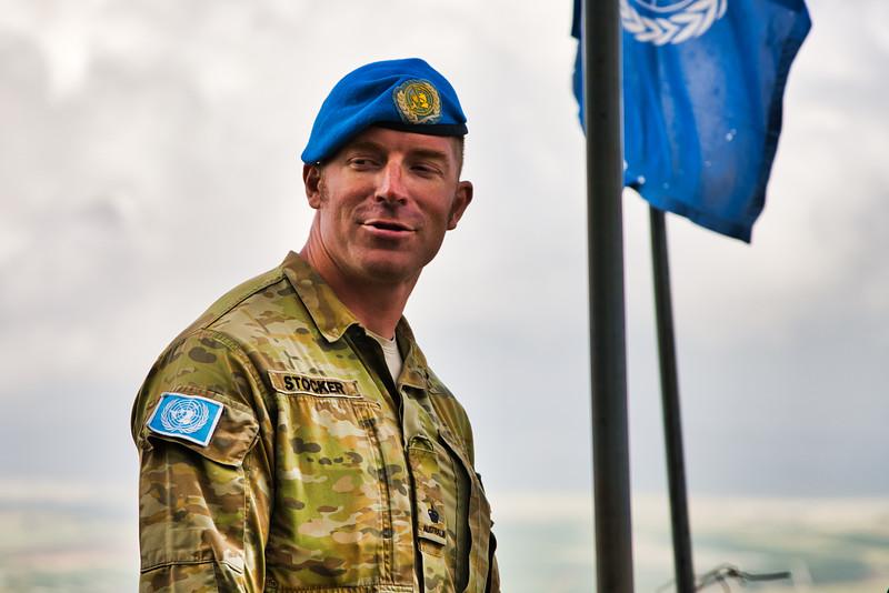 UN Peacekeeper in Golan Heights