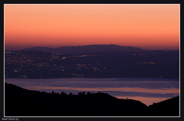 Tiberias and Sea of Galilee at Dusk