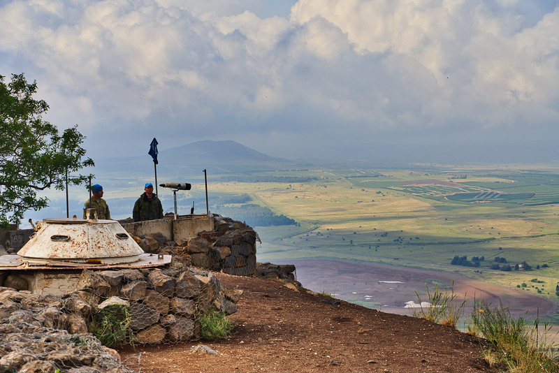 Golan Heights Overlook into Syria