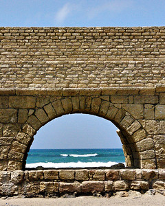 Aqueduct at Caesarea, Israel (c) 2011, Karin Markert, kmarkert88@gmail.com, all rights reserved.