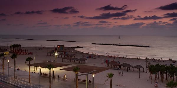 Tel Aviv Beach Sunset