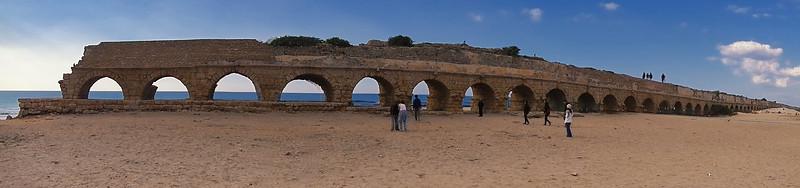 Roman Aqueduct in Ruins (rear)