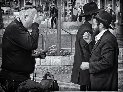 Telfillin  Also known as phylacteries .  Jerusalem, Israel.
