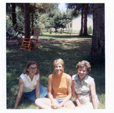 Kibbutz Ramot Menashe 1969 with Monia and her sista Ria.  Both survivors of Auschwitz.