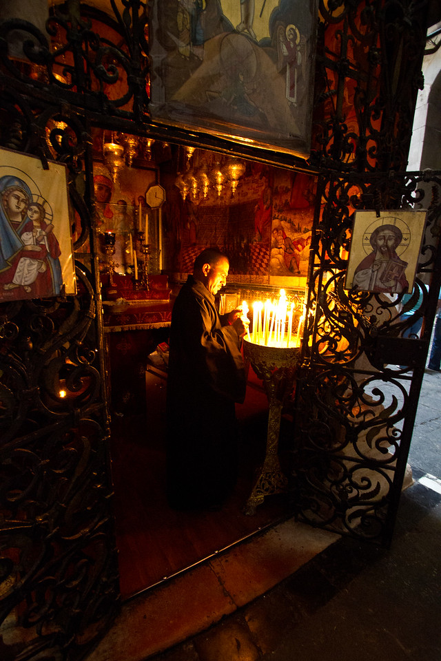 A Christian Monk in Prayer