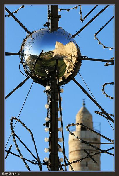 An exhibit for the Jerusalem Light Festival