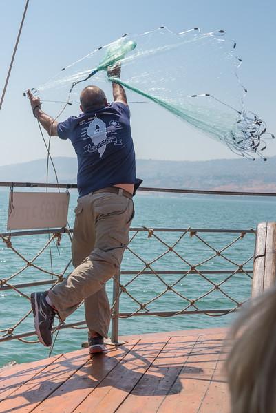 Fishing net demonstration