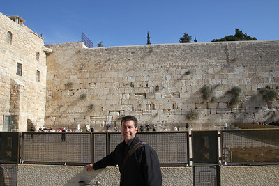 The Wailing Wall - The men are separated from the women.  Men on the right, women on the left.