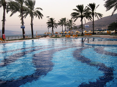 Gai Beach Hotel pool in Tiberias