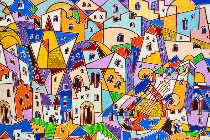 Tzfat Old City Art Gallery Painting