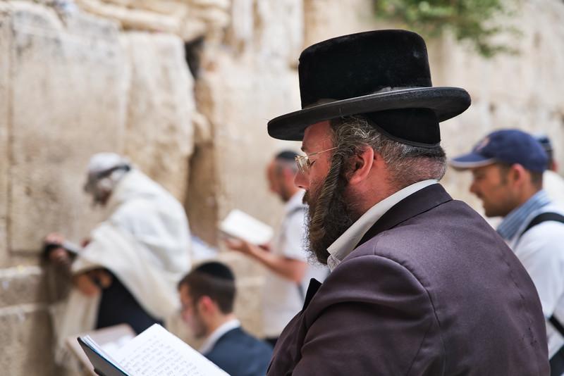 Man Praying at the Wailing Wall