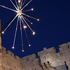 Artificial Fireworks, Jaffa Gate<br /> Jerusalem Light Festival