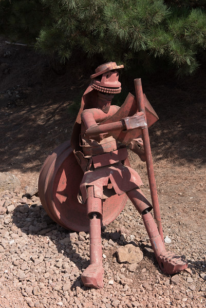 Metal sculptures, Mount Bental, Golan Heights