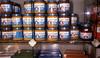 Gerber baby food jars, in hebrew