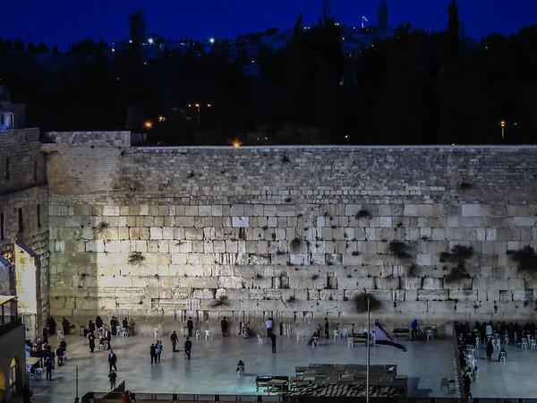 Western Wall at Night