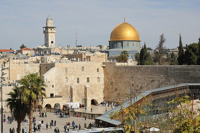 The Wailing Wall - Also called the Western Wall.  All that is left of the original Temple Mount in the Jewish sector.