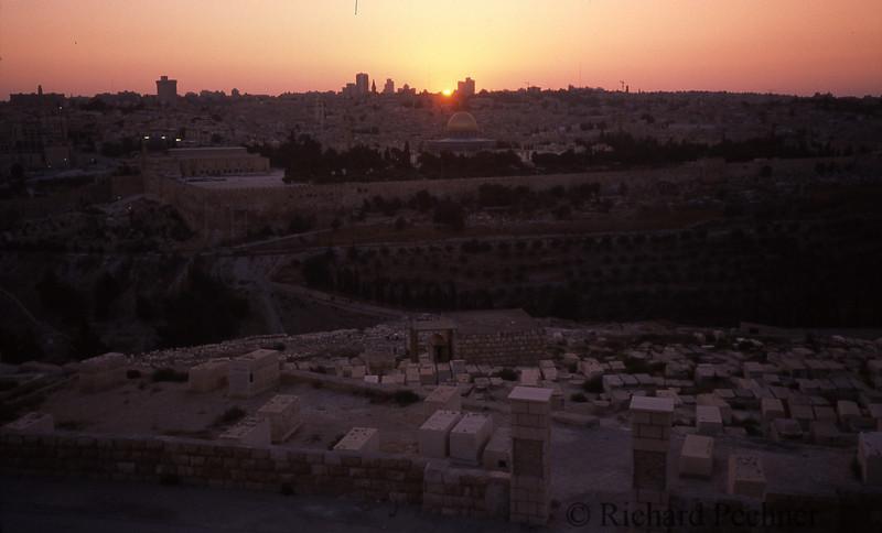 Sunset over Jerusalem.